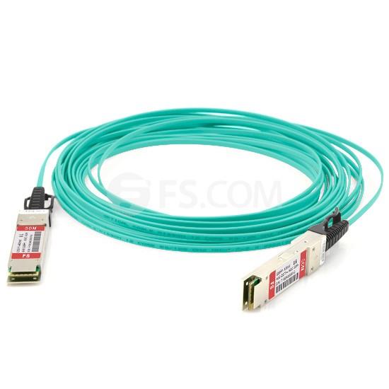 50m (164ft) Dell (DE) Networking 470-12656 Compatible 40G QSFP+ Active Optical Cable