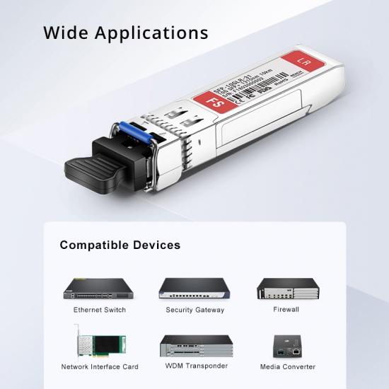 Avaya Nortel AA1403011-E6 Compatible 10GBASE-LR SFP+ 1310nm 10km DOM  Transceiver Module