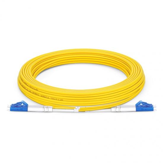 7m (23ft) LC UPC to LC UPC Duplex OS2 Single Mode PVC (OFNR) 2.0mm Fiber Optic Patch Cable