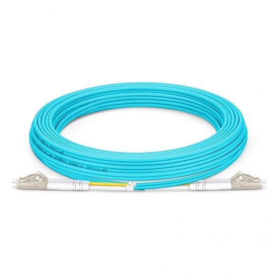 LWL-Patchkabel, 5m (16ft) LC UPC auf LC UPC Duplex Stecker, OM4 Multimode PVC (OFNR) 2,0mm