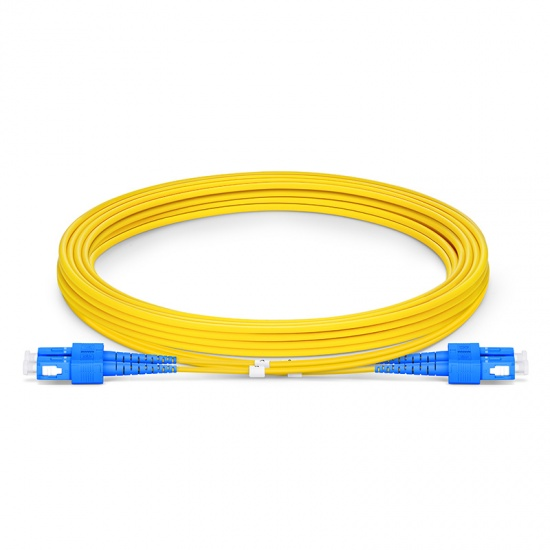 SC-SC UPC Duplex Single Mode Fibre Patch Lead 2.0mm PVC (OFNR) 3m