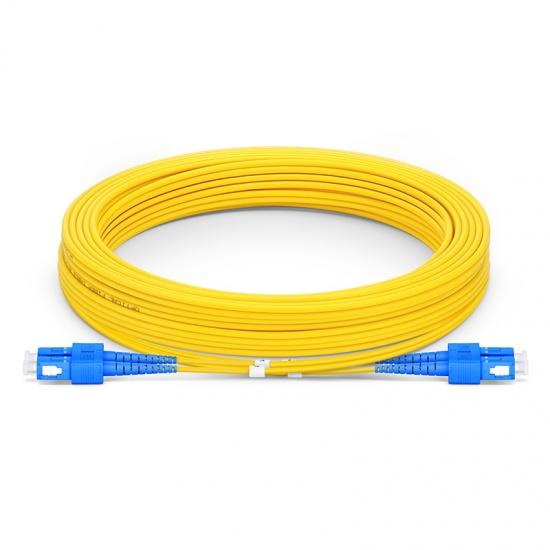 Cable/latiguillo/jumper de fibra óptica 10 metros SC/UPC a SC/UPC OS2 9/125 monomodo PVC 2.0mm