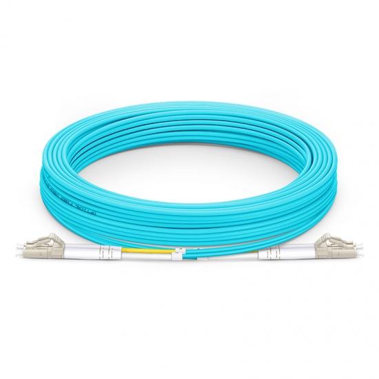 30M LC/UPC-LC/UPC 万兆双工多模OM4光纤跳线 - 3.0mm PVC(OFNR)