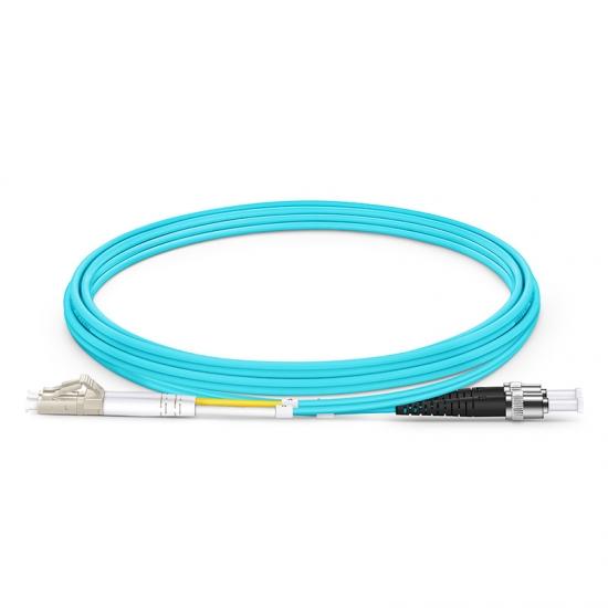 2m LC/UPC-ST/UPC 万兆双工多模OM4光纤跳线-2.0mm PVC(OFNR)