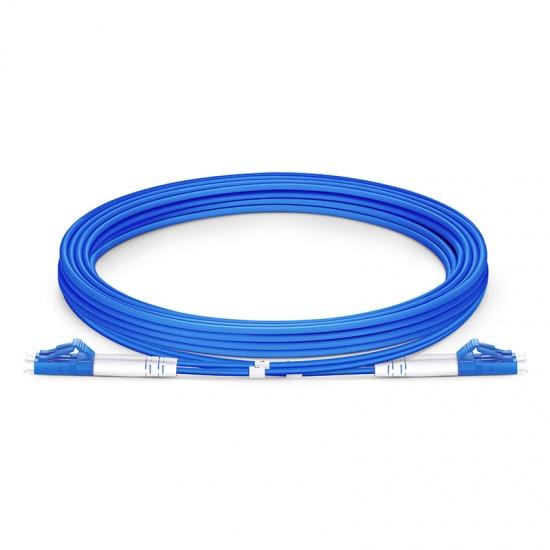 3M LC/UPC-LC/UPC双工单模铠装光纤跳线 - 3.0mm PVC(OFNR)