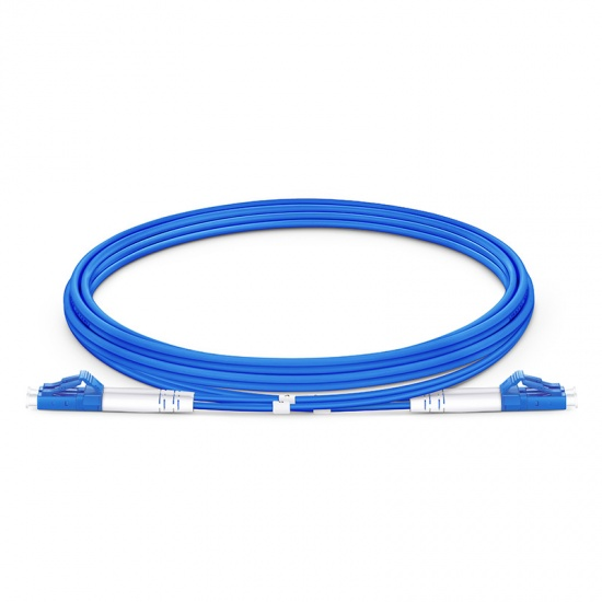 2M LC/UPC-LC/UPC双工单模铠装光纤跳线 - 3.0mm PVC(OFNR)