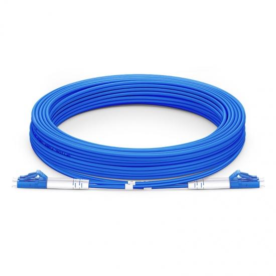 10M LC/UPC-LC/UPC双工单模铠装光纤跳线 - 3.0mm PVC(OFNR)