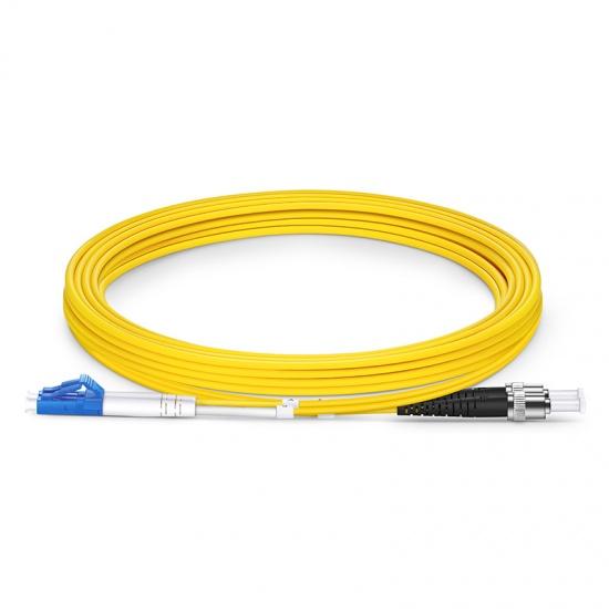 3m LC /UPC - ST /UPC 双工单模 OS2光纤跳线 -2.0mm PVC(OFNR)