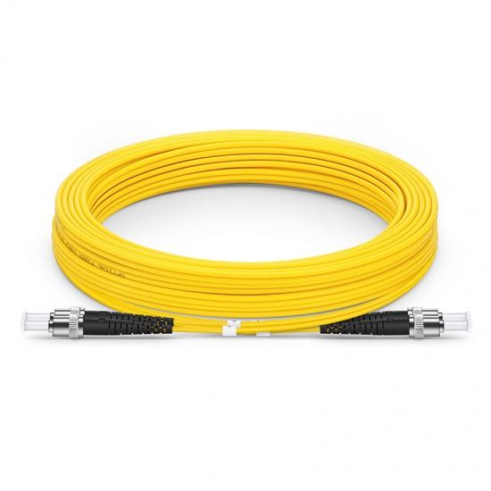Cable/latiguillo/jumper fibra óptica 10 metros ST/UPC a ST/UPC OS2 9/125 monomodo PVC 2.0mm
