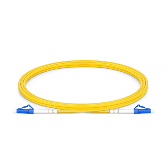 2m LC/UPC-LC/UPC 单工单模 OS2光纤跳线 -2.0mm PVC(OFNR)