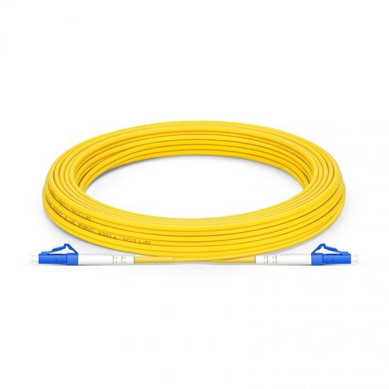 10m LC/UPC-LC/UPC 单工单模 OS2光纤跳线 -2.0mm PVC(OFNR)