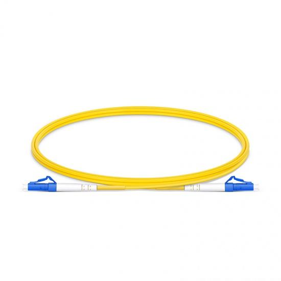 LWL-Patchkabel, 1m (3ft) LC UPC auf LC UPC Simplex Stecker OS2 Singlemode PVC (OFNR) 2,0mm