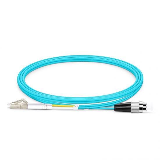 1m LC/UPC-FC/UPC 万兆双工多模OM4光纤跳线-2.0mm PVC(OFNR)