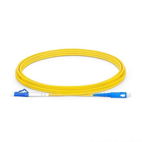 3m LC/UPC-SC/UPC 单工单模 OS2光纤跳线 -2.0mm PVC(OFNR)