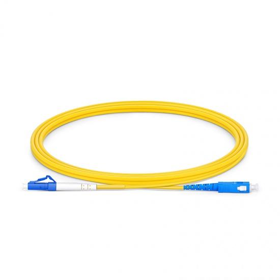2m LC/UPC-SC/UPC 单工单模 OS2光纤跳线 -2.0mm PVC(OFNR)