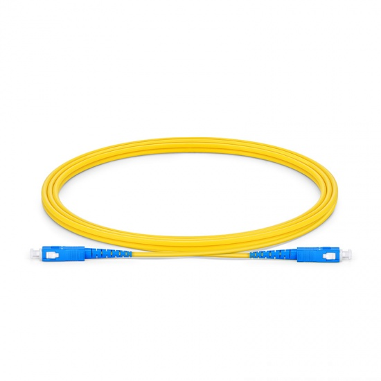 2m SC/UPC-SC/UPC单工单模OS2光纤跳线-2.0mm PVC(OFNR)