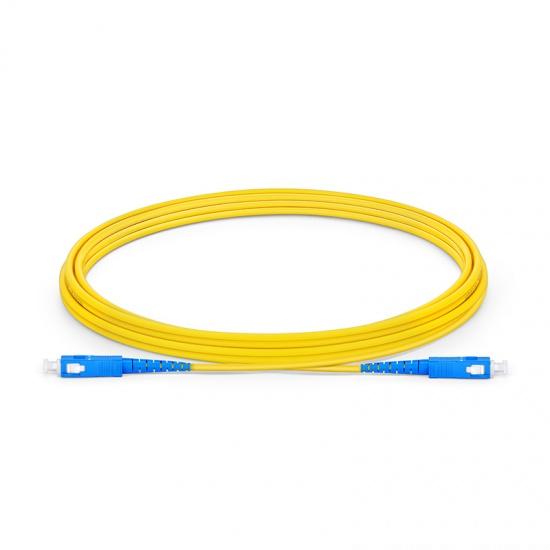 3m SC/UPC-SC/UPC单工单模OS2光纤跳线-2.0mm PVC(OFNR)
