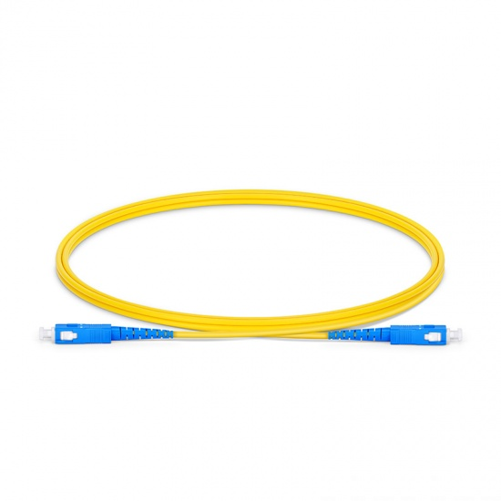 SC-SC UPC Simplex Single Mode Fibre Patch Lead 2.0mm PVC (OFNR) 1m