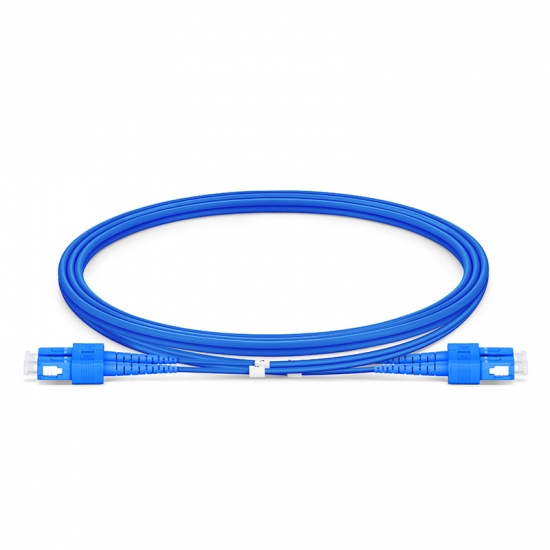 1M SC/UPC-SC/UPC双工单模铠装光纤跳线 - 3.0mm PVC(OFNR)