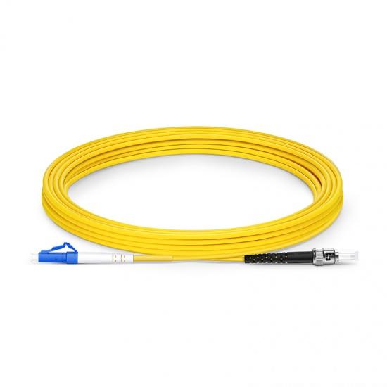 5m LC/UPC-ST/UPC单工单模OS2光纤跳线-2.0mm PVC(OFNR)