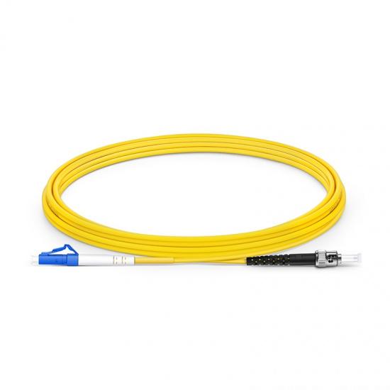 3m LC/UPC-ST/UPC单工单模OS2光纤跳线-2.0mm PVC(OFNR)