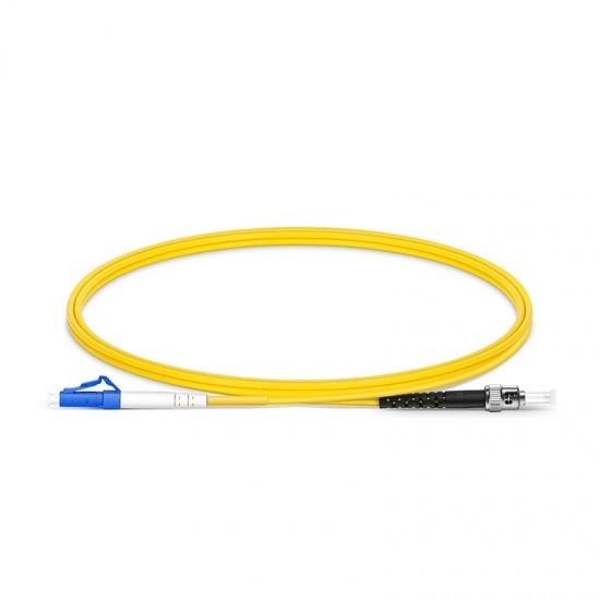 LC-ST UPC Simplex Single Mode Fibre Patch Lead 2.0mm PVC (OFNR) 1m