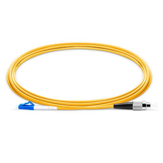 2m LC/UPC-FC/UPC 单工单模 OS2光纤跳线 -2.0mm PVC(OFNR)