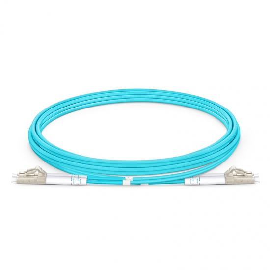 2M LC/UPC-LC/UPC 万兆双工多模OM4铠装光纤跳线 3.0mm PVC(OFNR)