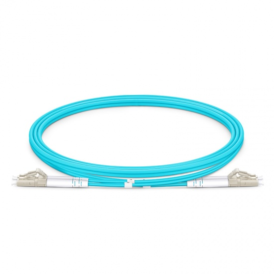 1M LC/UPC-LC/UPC 万兆双工多模OM4铠装光纤跳线 3.0mm PVC(OFNR)