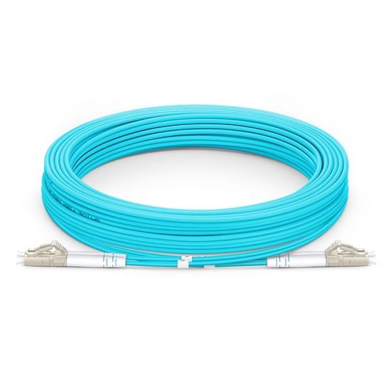 15M LC/UPC-LC/UPC 万兆双工多模OM4铠装光纤跳线 3.0mm PVC(OFNR)