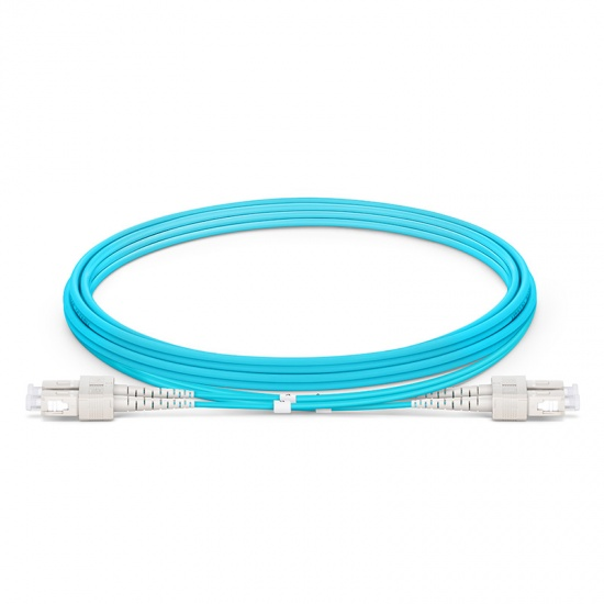 2M SC/UPC-SC/UPC 万兆双工多模OM4铠装光纤跳线 3.0mm PVC(OFNR)
