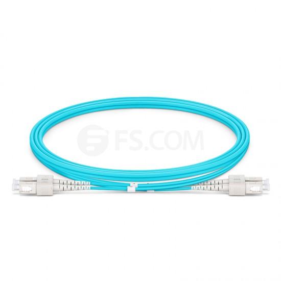 1M SC/UPC-SC/UPC 万兆双工多模OM4铠装光纤跳线 3.0mm PVC(OFNR)