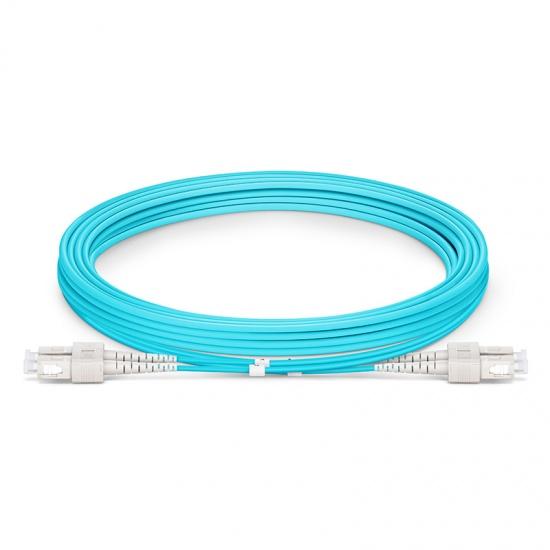 3M SC/UPC-SC/UPC 万兆双工多模OM4铠装光纤跳线 3.0mm PVC(OFNR)