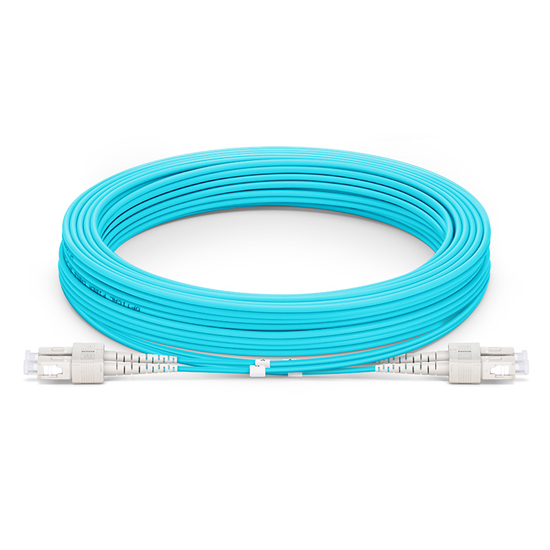 15M SC/UPC-SC/UPC 万兆双工多模OM4铠装光纤跳线 3.0mm PVC(OFNR)