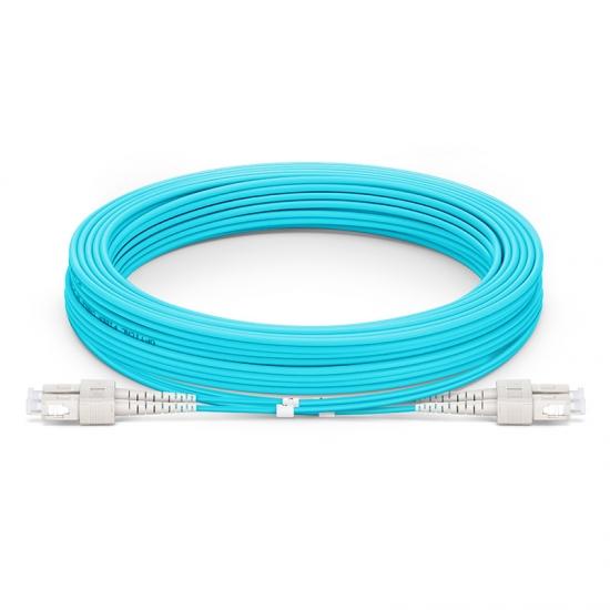 10M SC/UPC-SC/UPC 万兆双工多模OM4铠装光纤跳线 3.0mm PVC(OFNR)