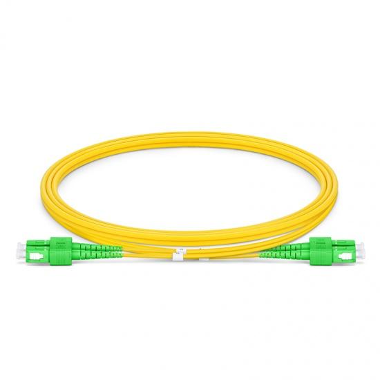 1m SC/APC-SC/APC双工单模OS2光纤跳线-2.0mm PVC(OFNR)
