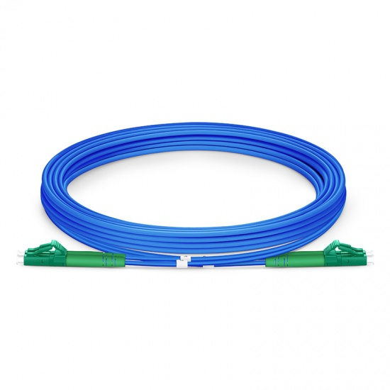 3M LC/APC-LC/APC双工单模铠装光纤跳线 - 3.0mm PVC(OFNR)