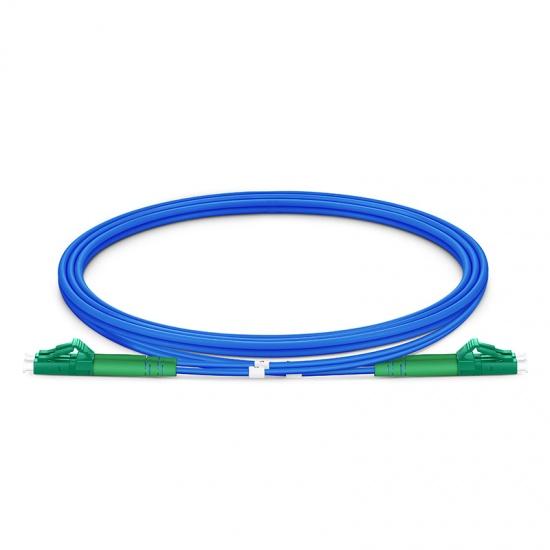 1m (3ft) LC APC to LC APC Duplex OS2 Single Mode Armored PVC (OFNR) 3.0mm Fiber Optic Patch Cable