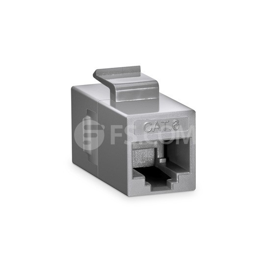 Cat6 RJ45 (8P8C) Unshielded Coupler Keystone Insert Module - Gray
