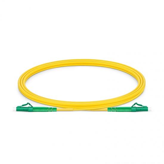LC-LC APC Simplex Single Mode Fibre Patch Lead 2.0mm PVC (OFNR) 2m