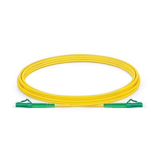 LC-LC APC Simplex Single Mode Fibre Patch Lead 2.0mm PVC (OFNR) 3m