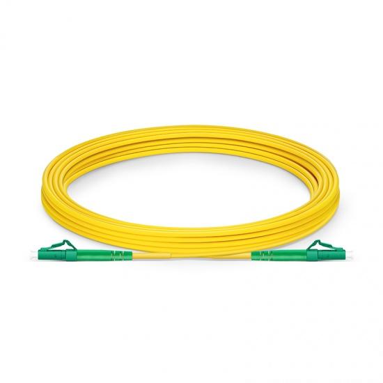 LC-LC APC Simplex Single Mode Fibre Patch Lead 2.0mm PVC (OFNR) 7m