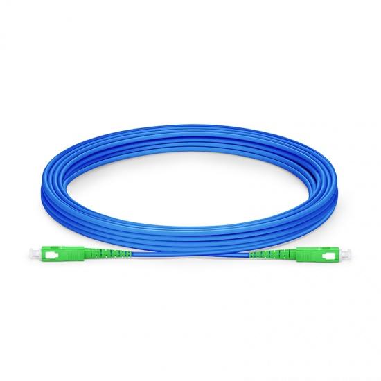 5M SC/APC-SC/APC单工单模铠装光纤跳线 - 3.0mm PVC(OFNR)