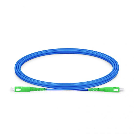 2M SC/APC-SC/APC单工单模铠装光纤跳线 - 3.0mm PVC(OFNR)