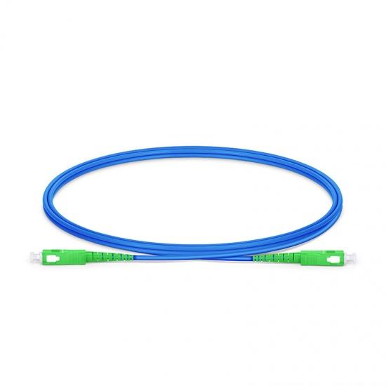 1M SC/APC-SC/APC单工单模铠装光纤跳线 - 3.0mm PVC(OFNR)