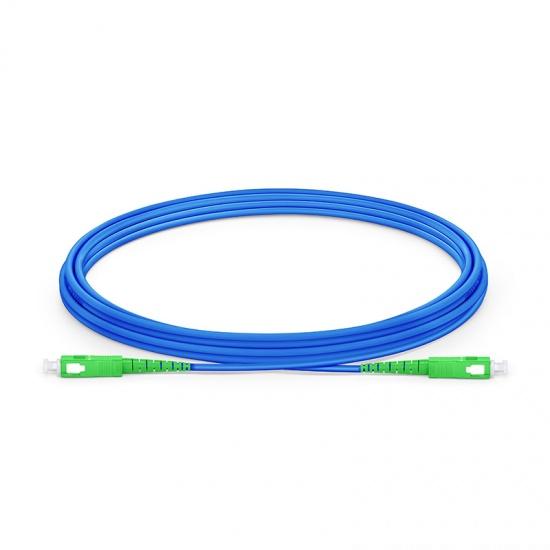 3M SC/APC-SC/APC单工单模铠装光纤跳线 - 3.0mm PVC(OFNR)