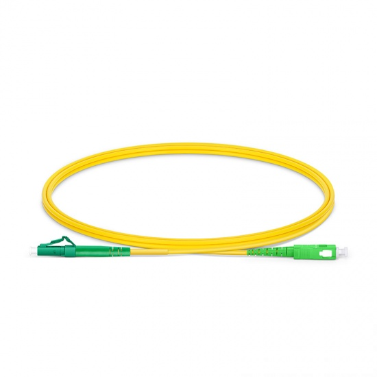 1m LC/APC-SC/APC单工单模OS2光纤跳线-2.0mm PVC(OFNR)