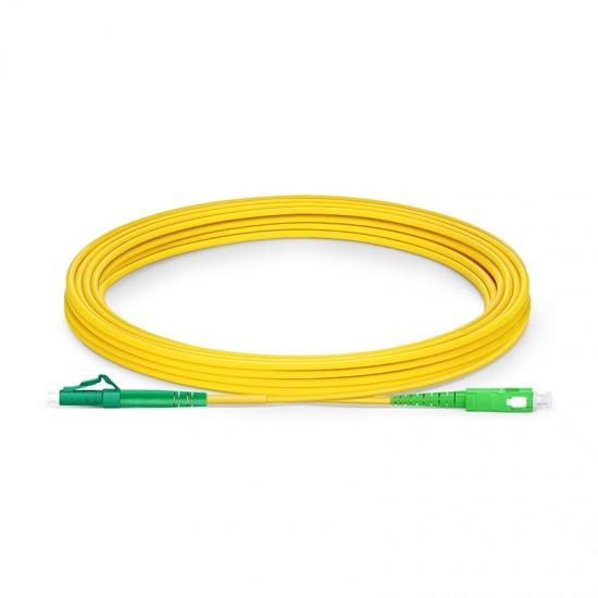 LC-SC APC Simplex Single Mode Fibre Patch Lead 2.0mm PVC (OFNR) 5m