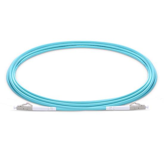 3m LC/UPC-LC/UPC 万兆单工多模OM3光纤跳线 - 2.0mm PVC(OFNR)