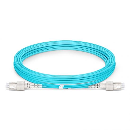 3m SC/UPC-SC/UPC 万兆双工多模OM3光纤跳线 - 2.0mm PVC(OFNR)